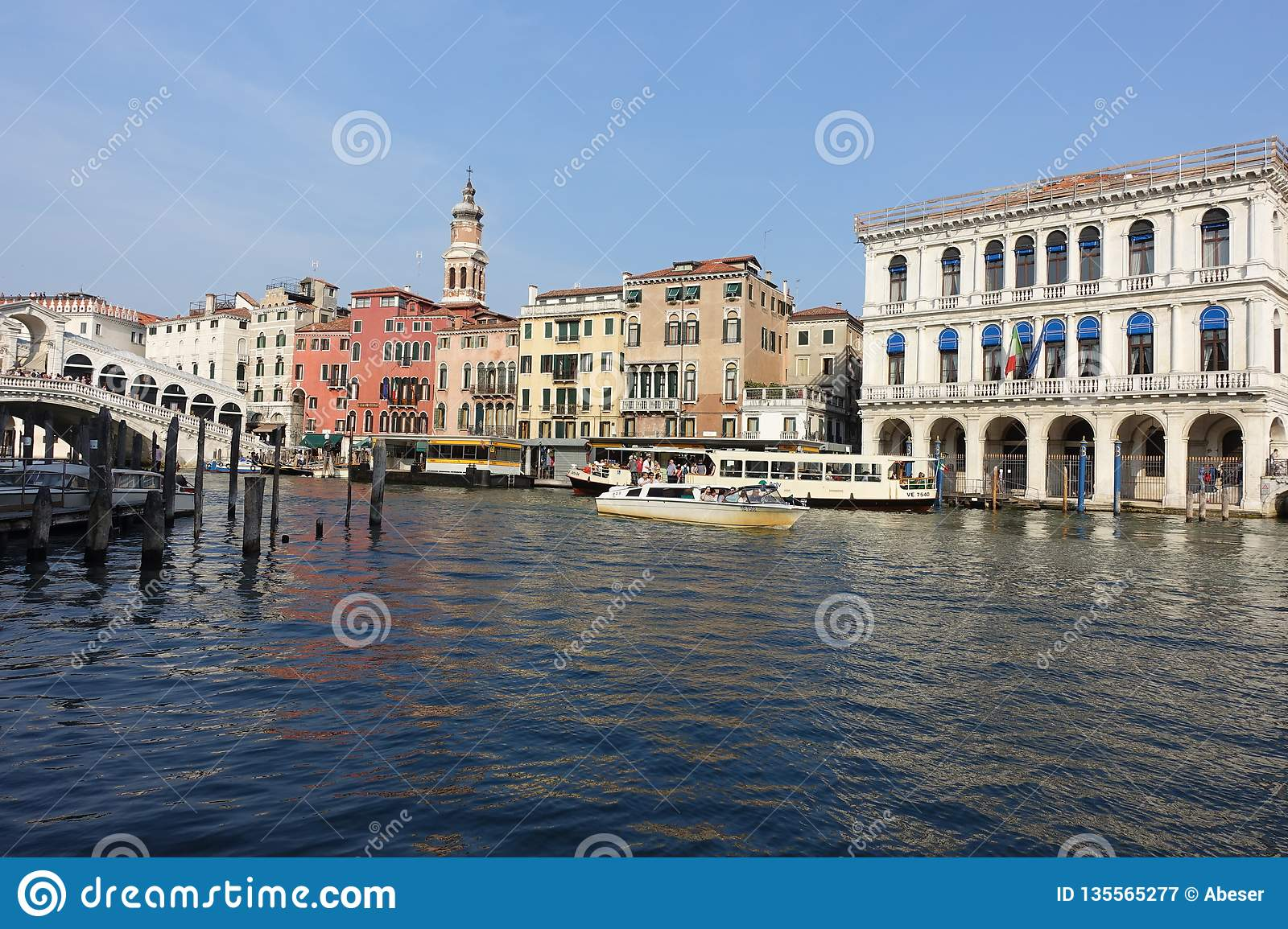 Venice Venedig Canals View In Venice Italy By Days Editorial Photography