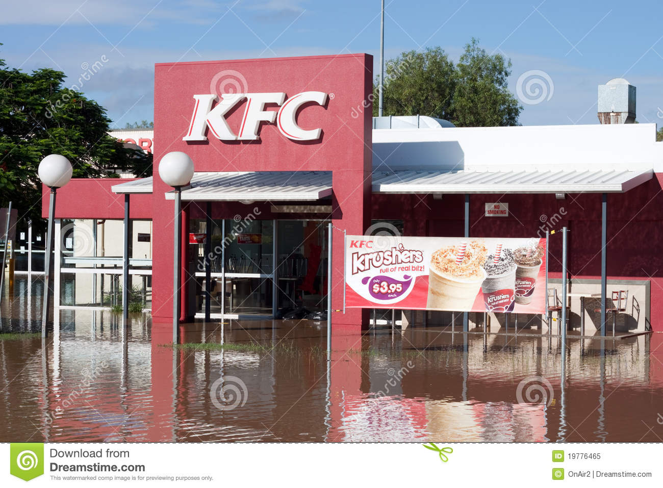 Computer Store Brisbane Kfc Disaster Queensland Floods Horizontal Editorial Image