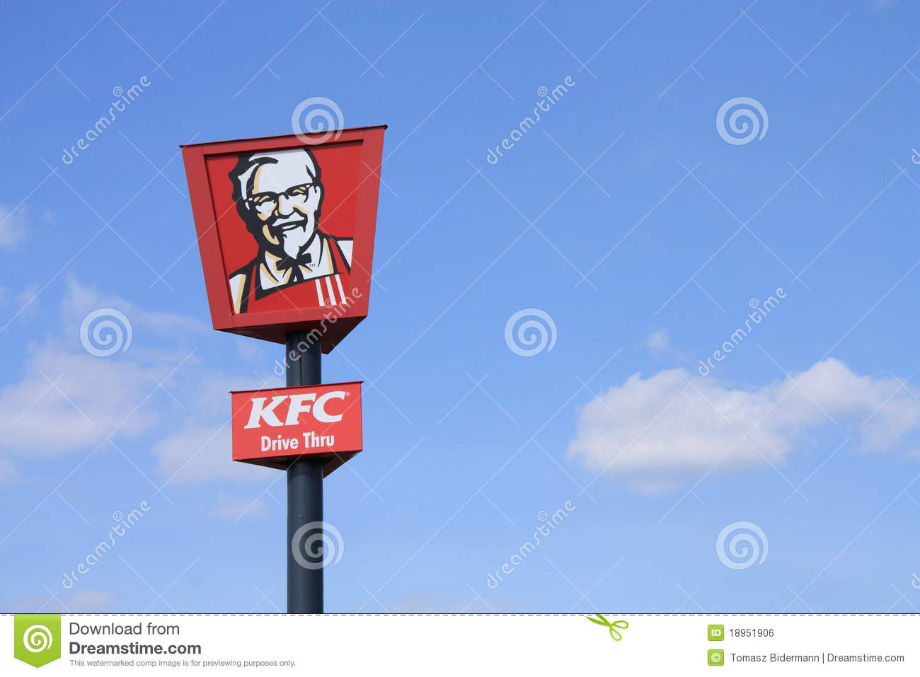 Car Shop Wallpaper Kfc Sign Editorial Photo Image Of Casual Commercial