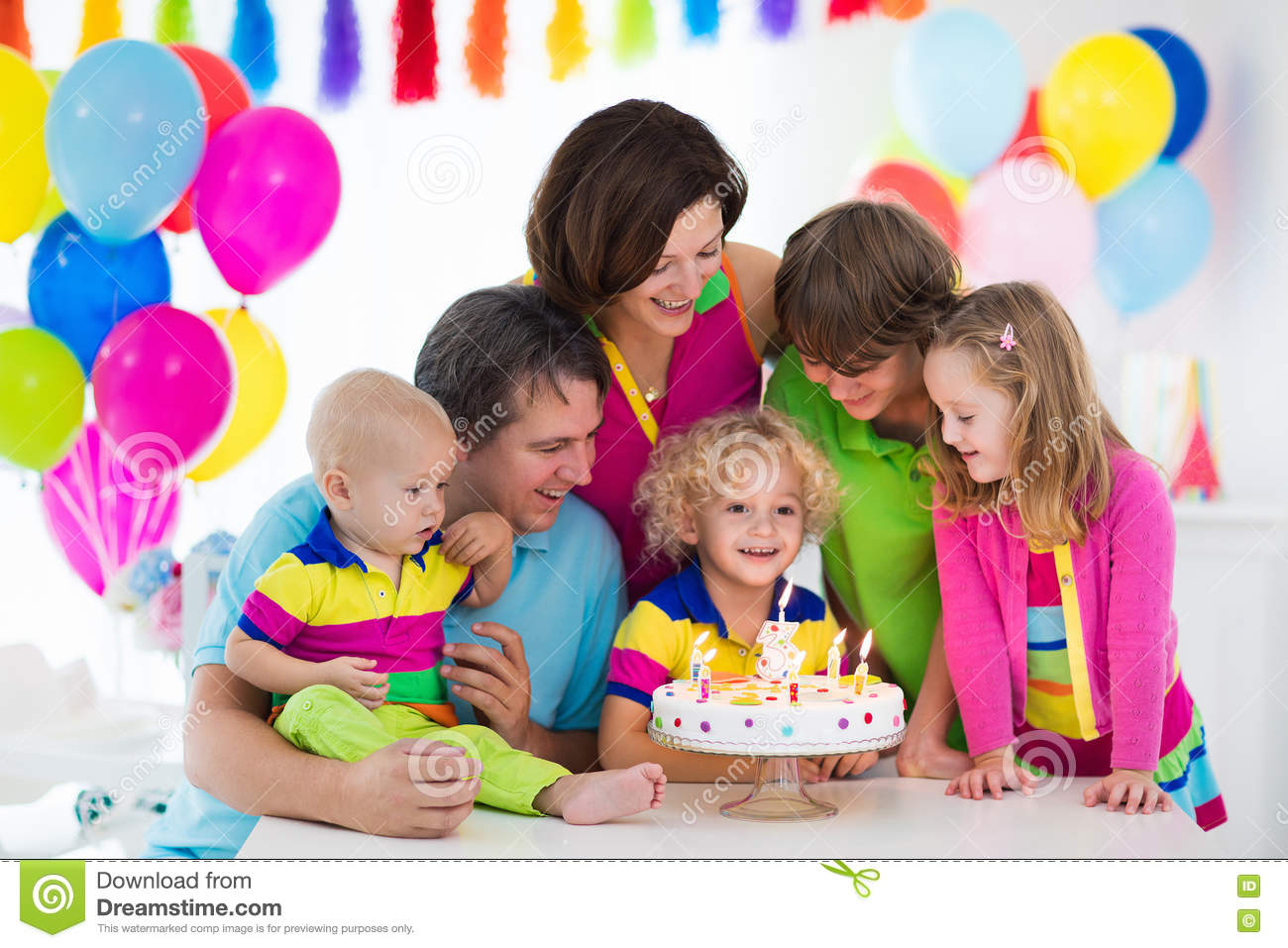 Little Kid Birthday Party Kids Birthday Party Stock Photo Image Of Birthday Blowing 78805574