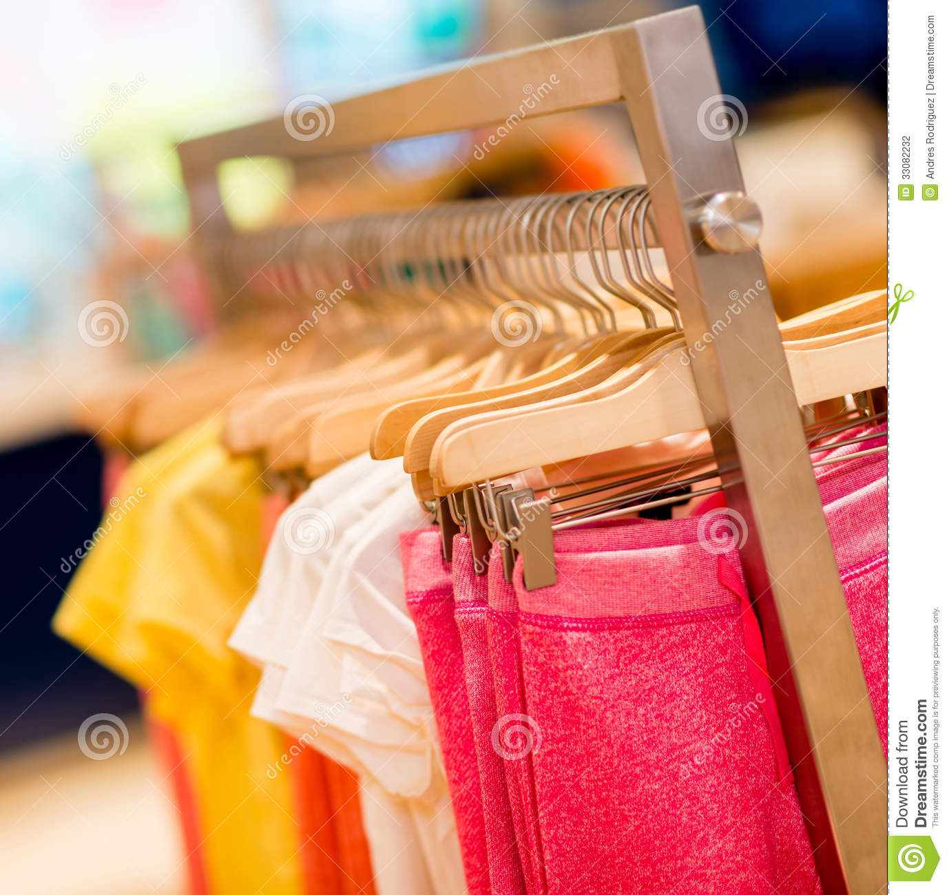 Kids Clothes At A Store Stock Photo Image Of Rail