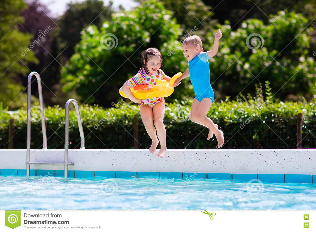 Funnygames Zwembad Springen Kids Jumping Swimming Pool Stock Images Download 623 Royalty