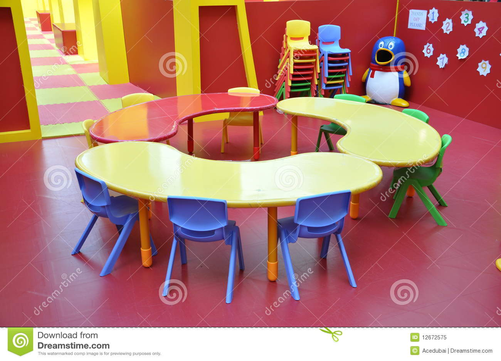 Kindergarten Childrens Play Area Table Stock Image Image