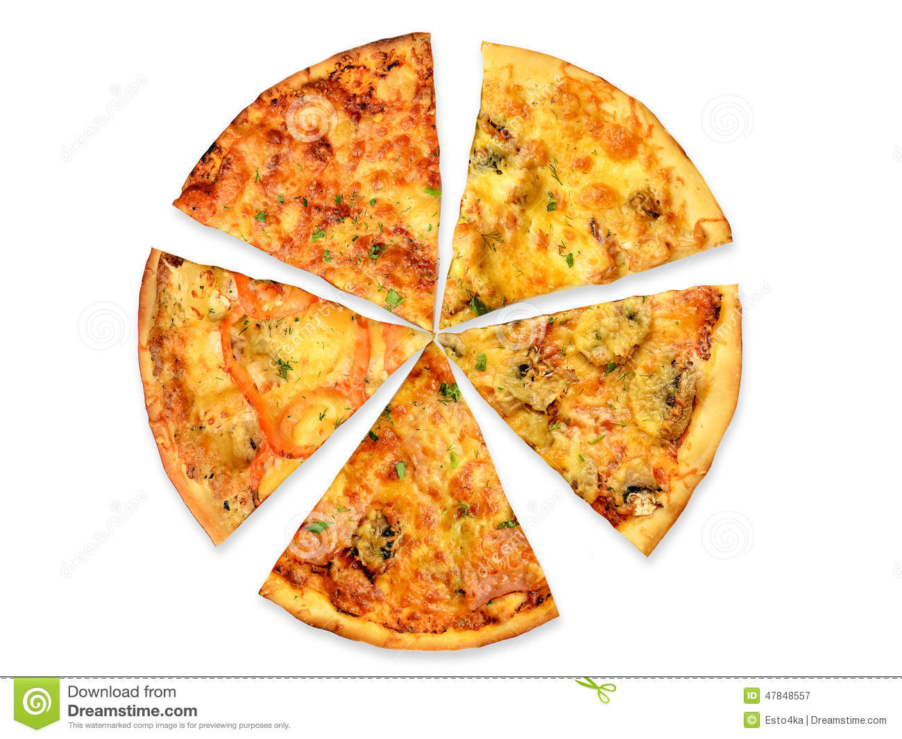 Broccoli Soorten 5 Kinds Of Pizza Stock Image. Image Of Pizza, Cooking
