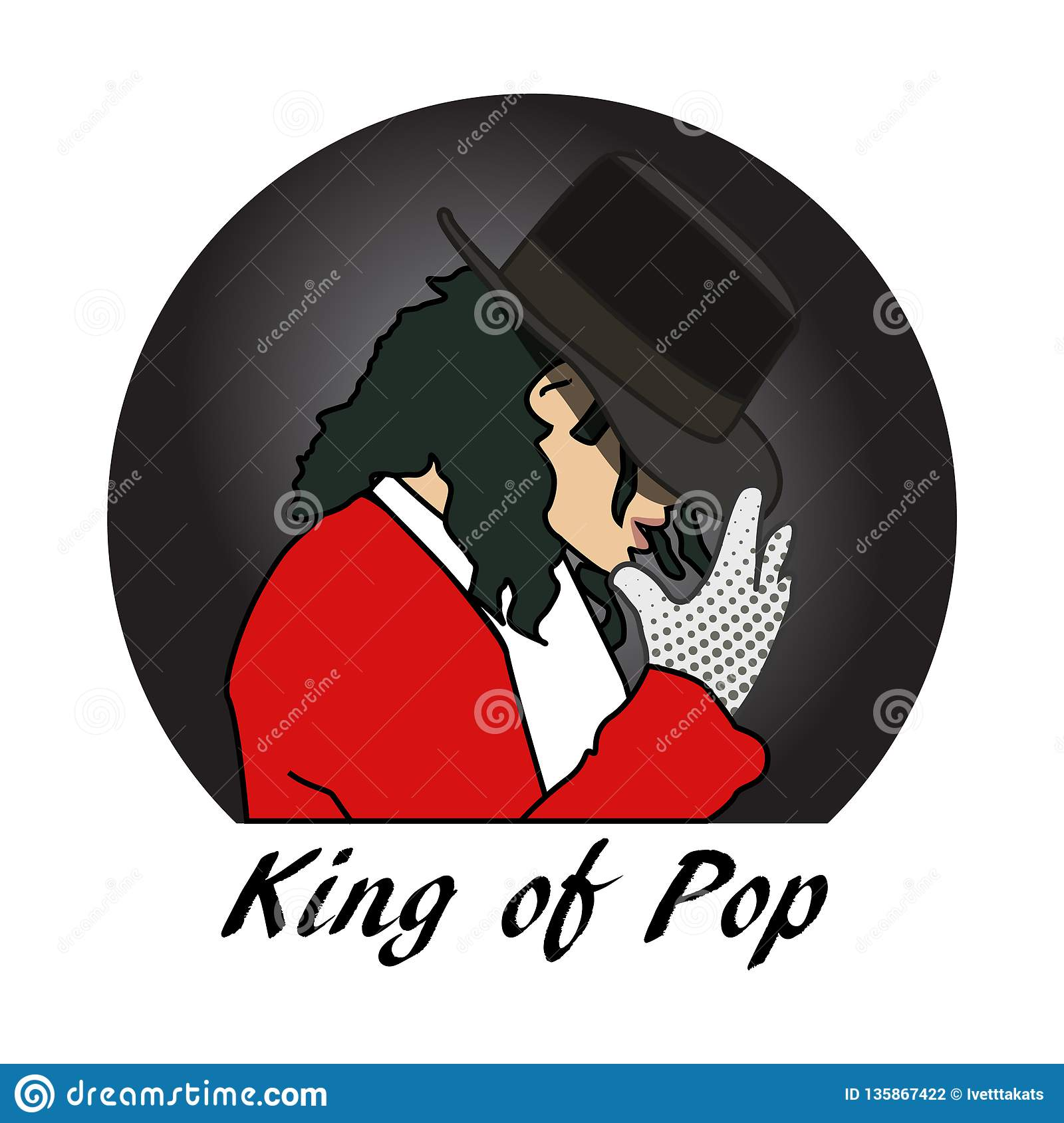 King Jackson King Of Pop Michel Jackson Editorial Photography Illustration Of