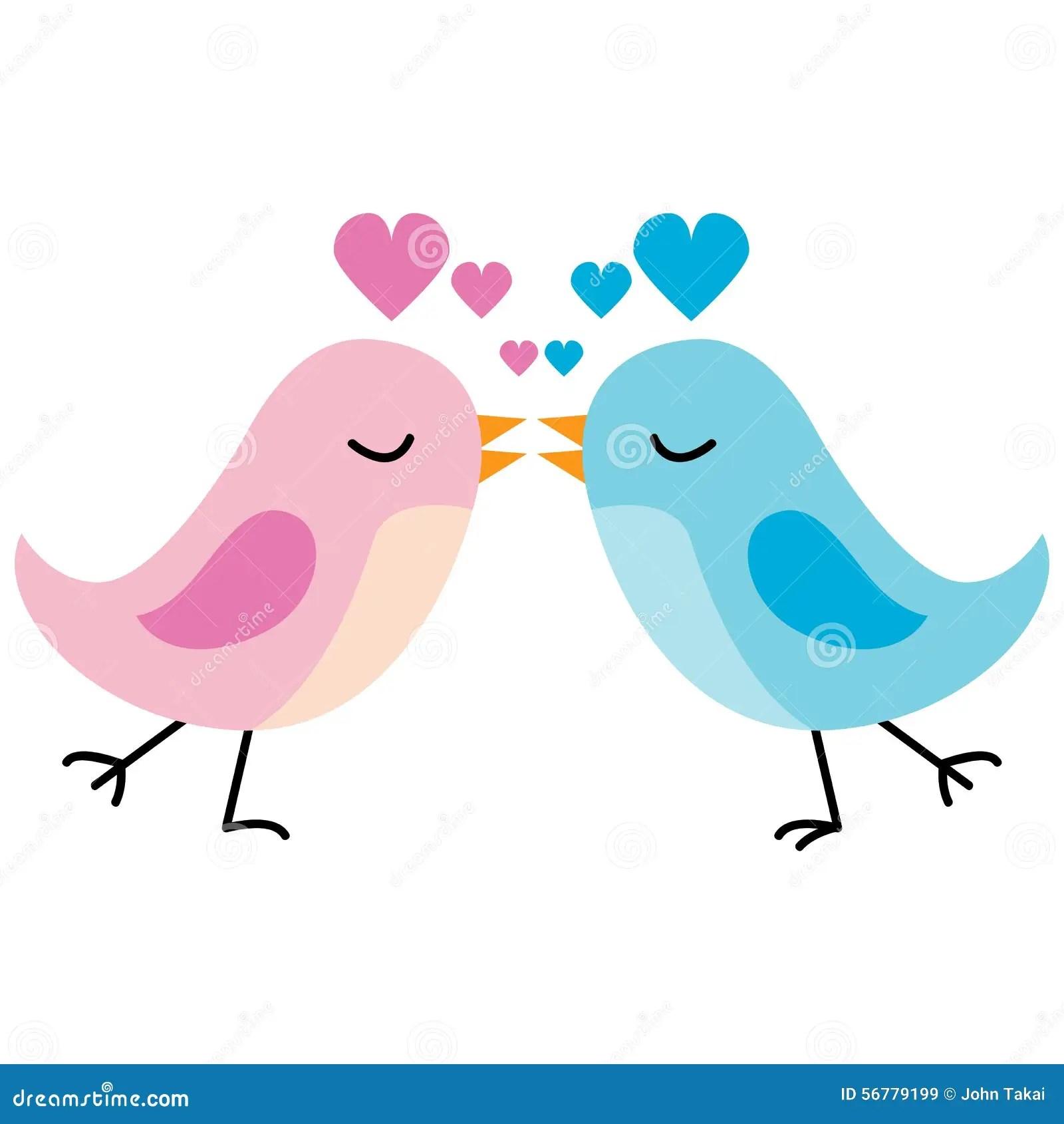 Cute Owl Cartoon Wallpaper Kissing Love Birds Stock Vector Illustration Of Pink