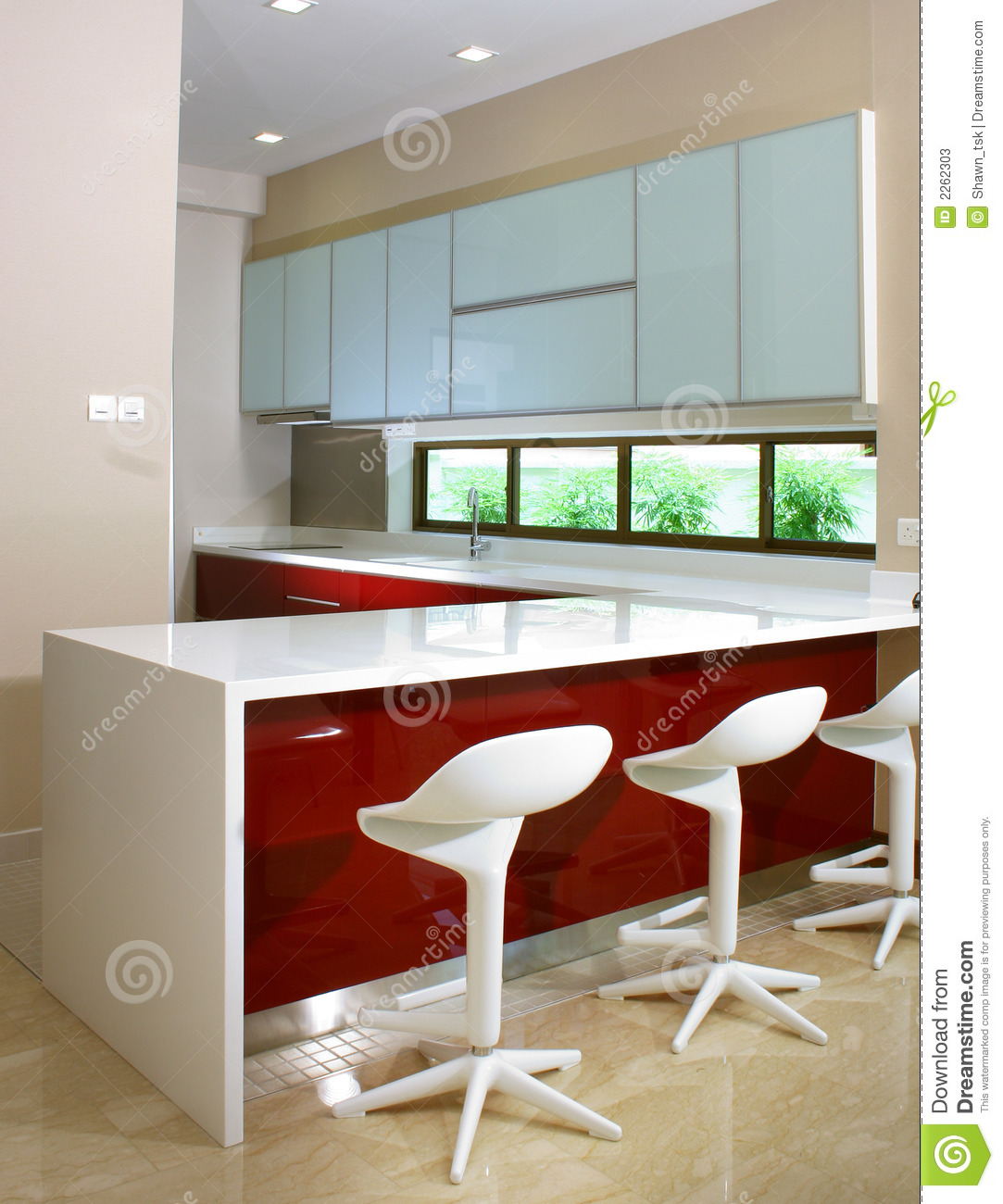 Kitchen Bar Design Pictures Kitchen And Bar Counter Stock Image Image Of Glass Contemporary