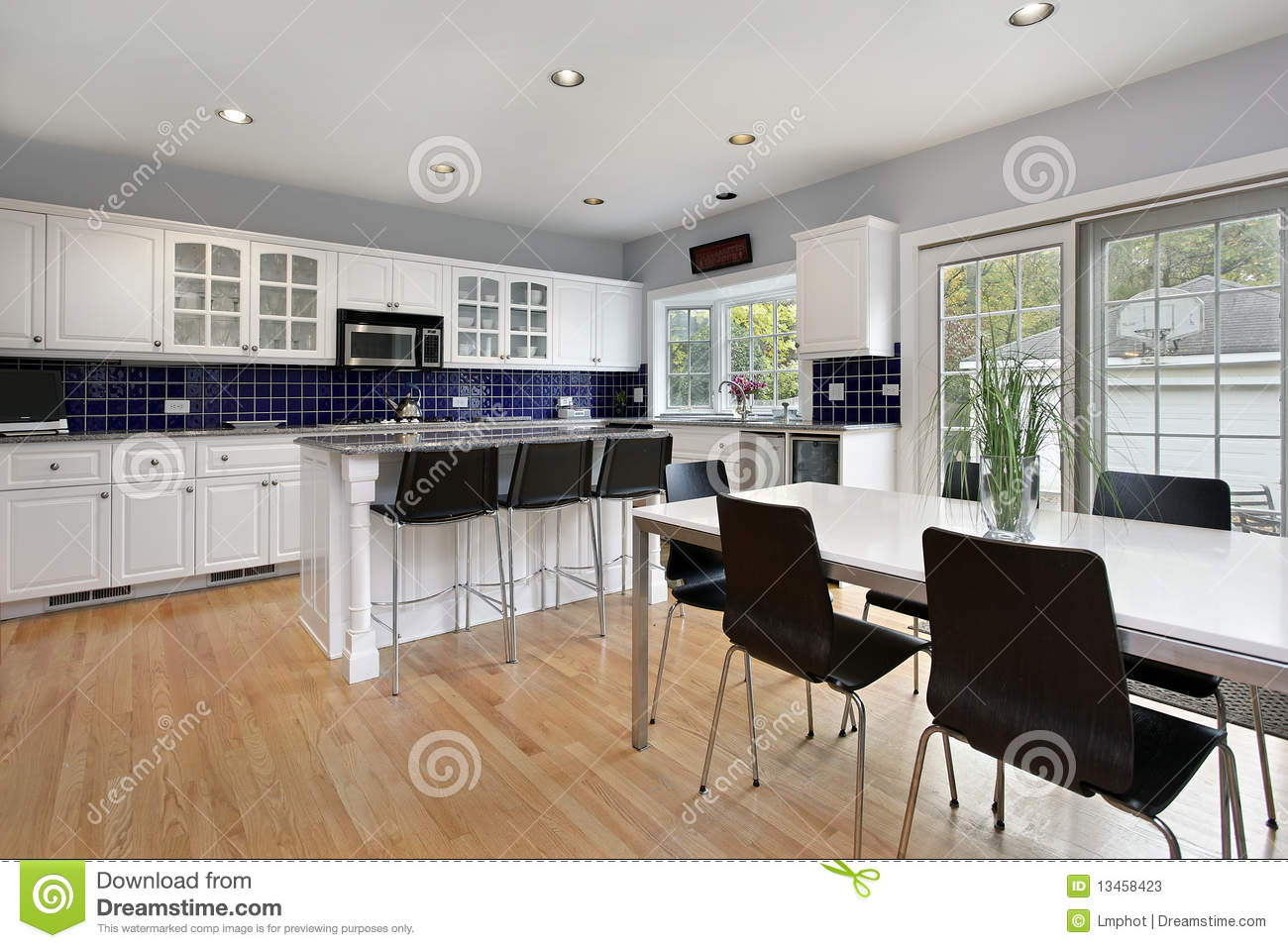 Blue tile backsplash kitchen -  Kitchen With Blue Tile Backsplash Download