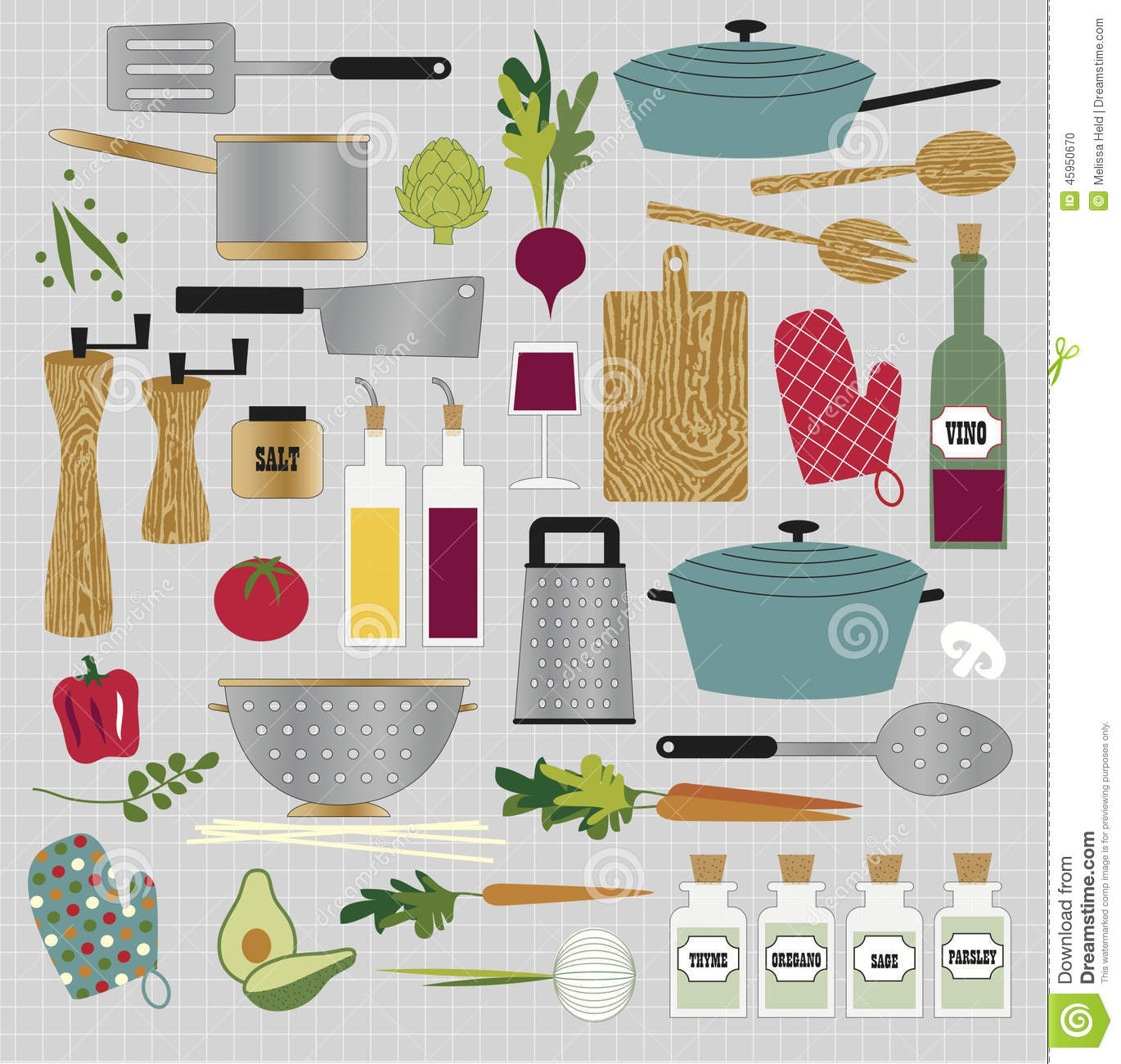 Clipart Küche Kitchen Clipart Stock Vector. Illustration Of Including