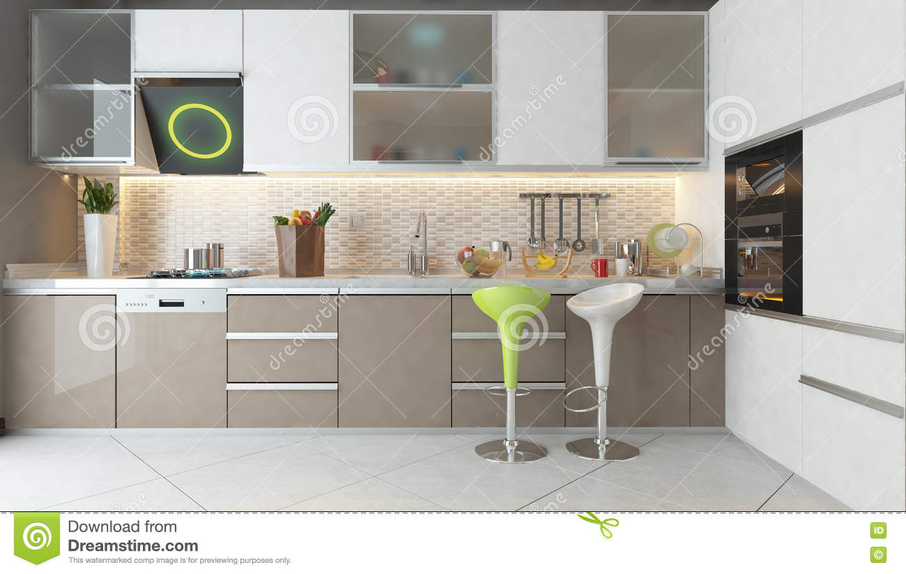 Kitchen Color Design Pictures Kitchen Design With White And Cappuccino Color Wooden Furniture