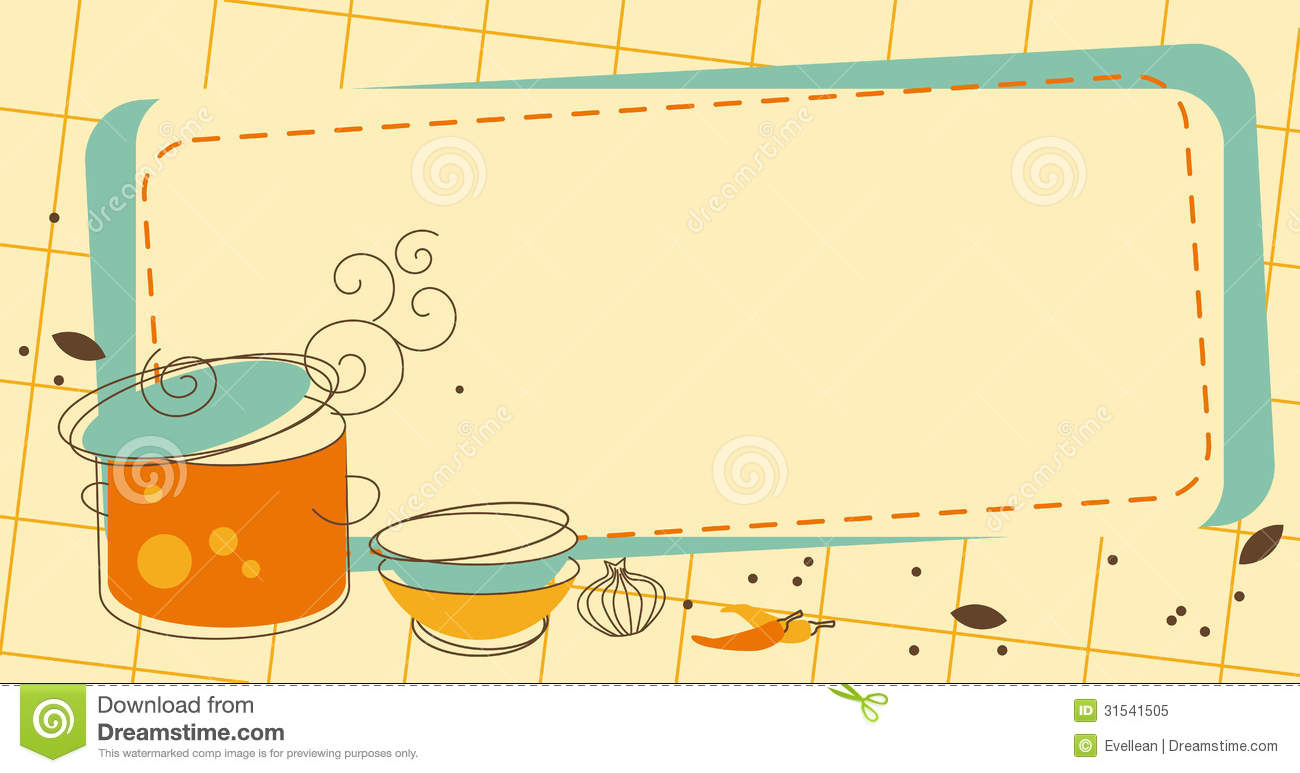 Cliparts Küche Gratis Kitchen Frame Stock Vector Illustration Of Collection