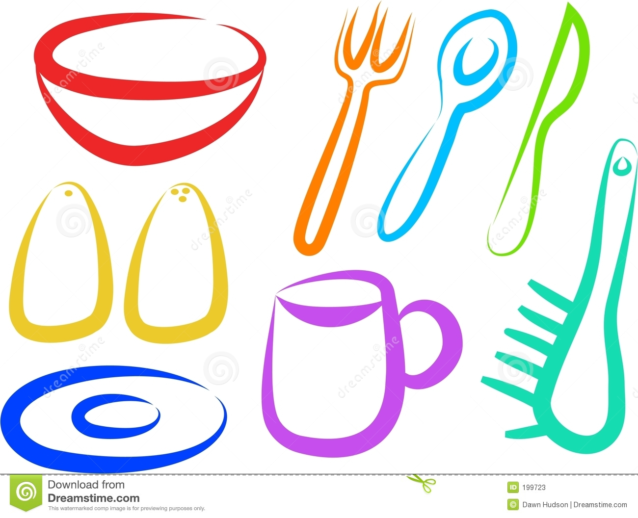Fhem Icon Küche Kitchen Icons Stock Vector. Illustration Of Colors
