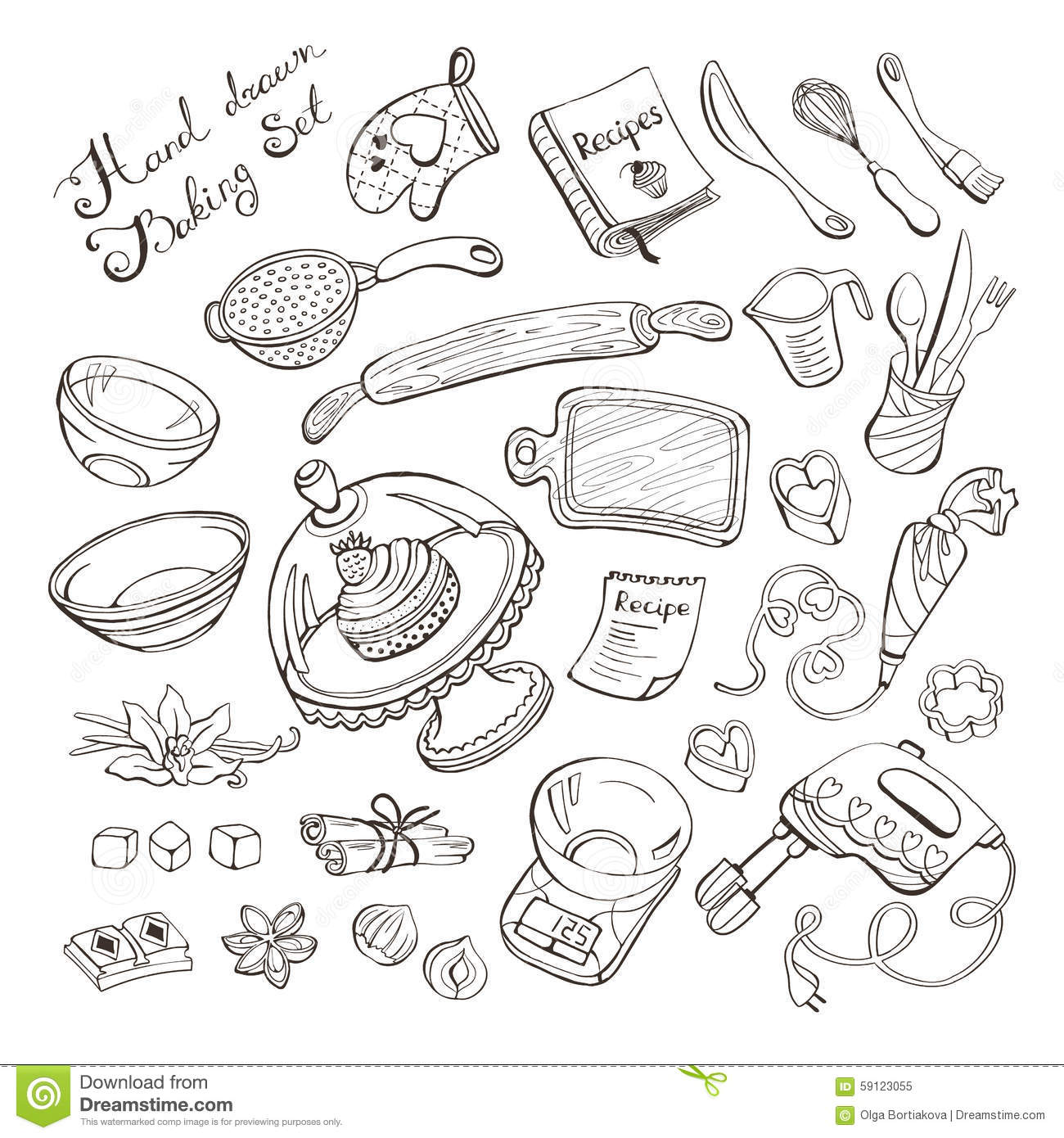 Kitchen Tools And Equipment With Meaning Kitchen Tools And Equipment Drawing