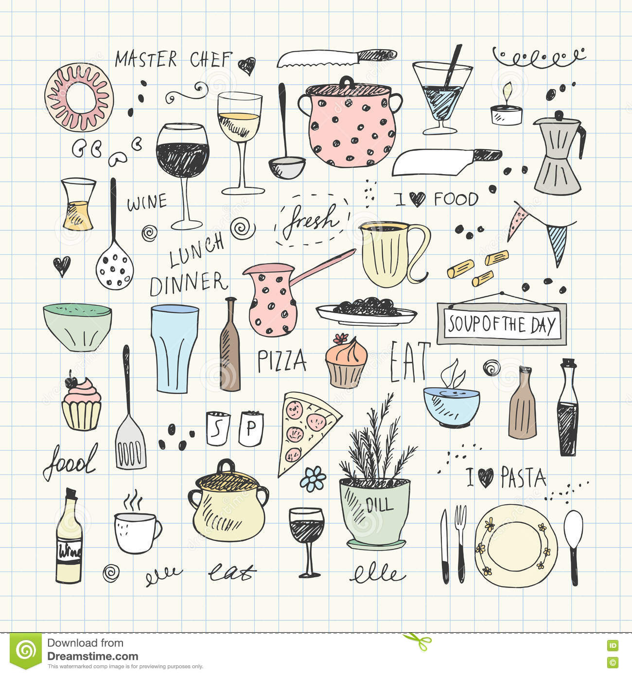Kitchen Tools Drawings Kitchen Tools Drawing