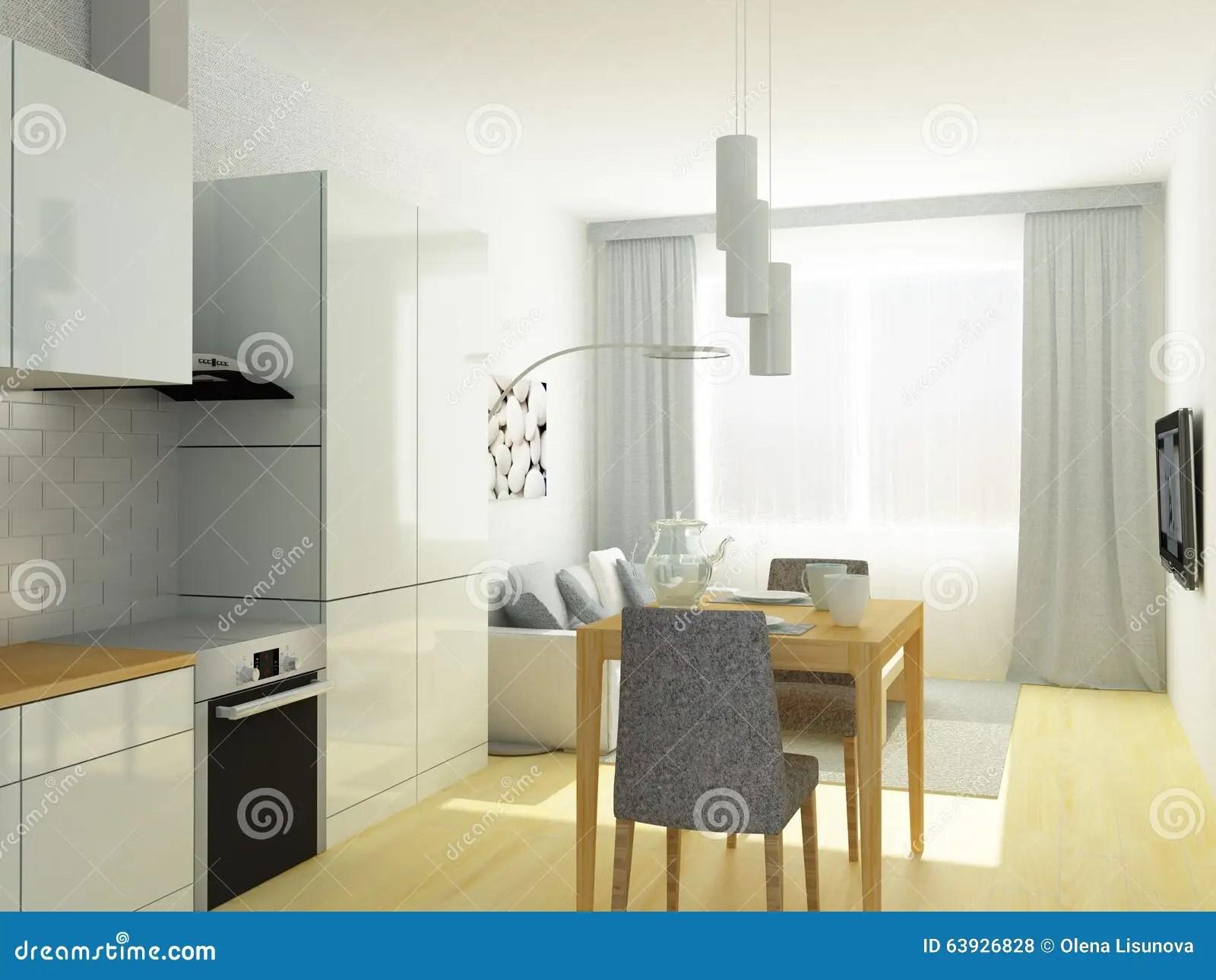 Kleine Kuche Im Wohnzimmer Klein E S Haus Fenster Zur Kuche
