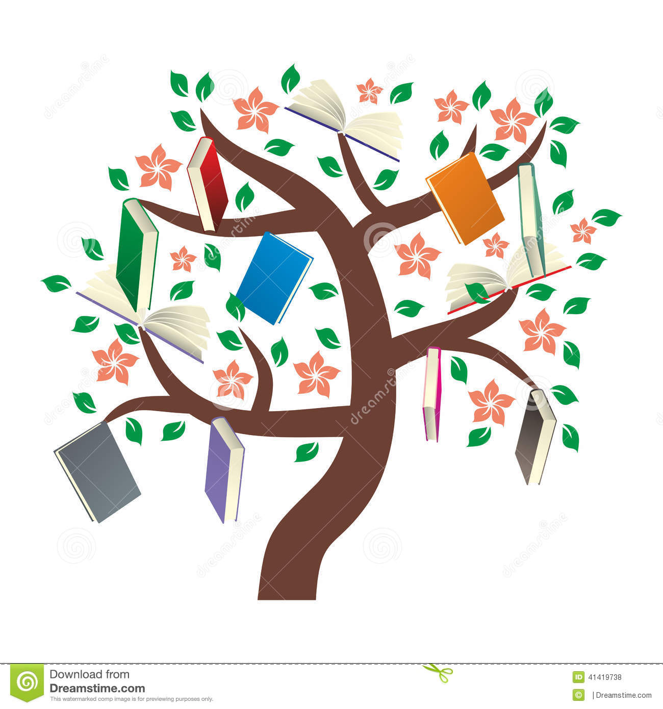 Fall Out Boy Symbol Wallpaper Knowledge Tree With Leaves Stock Vector Illustration Of
