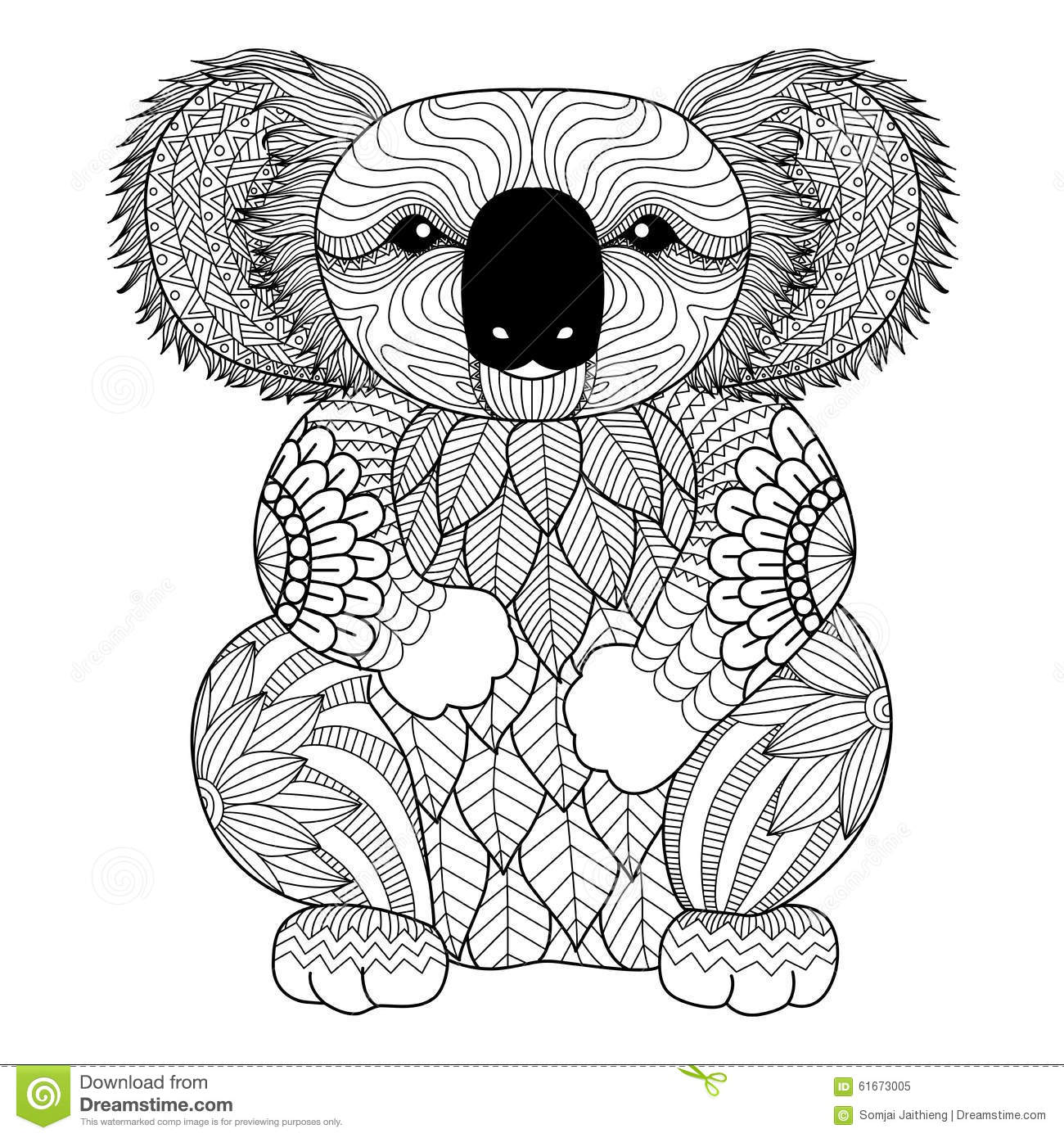Decoration Chambre Koala Coloriage Anti Stress Koala