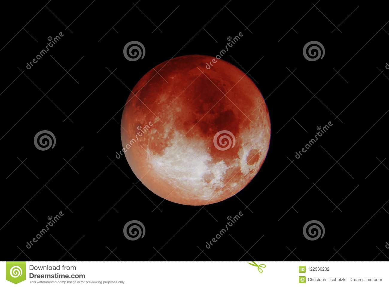Copy Shop Koblenz Koblenz Germany 27 07 2018 Blood Moon 2018 The Dark Black Sky