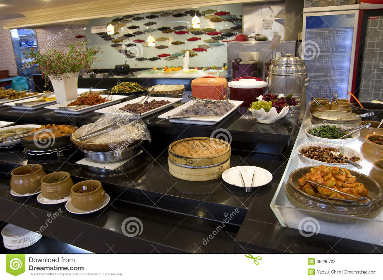 Buffet Cuisine Design Korean Buffet Restaurant Cuisines Stock Image Image Of