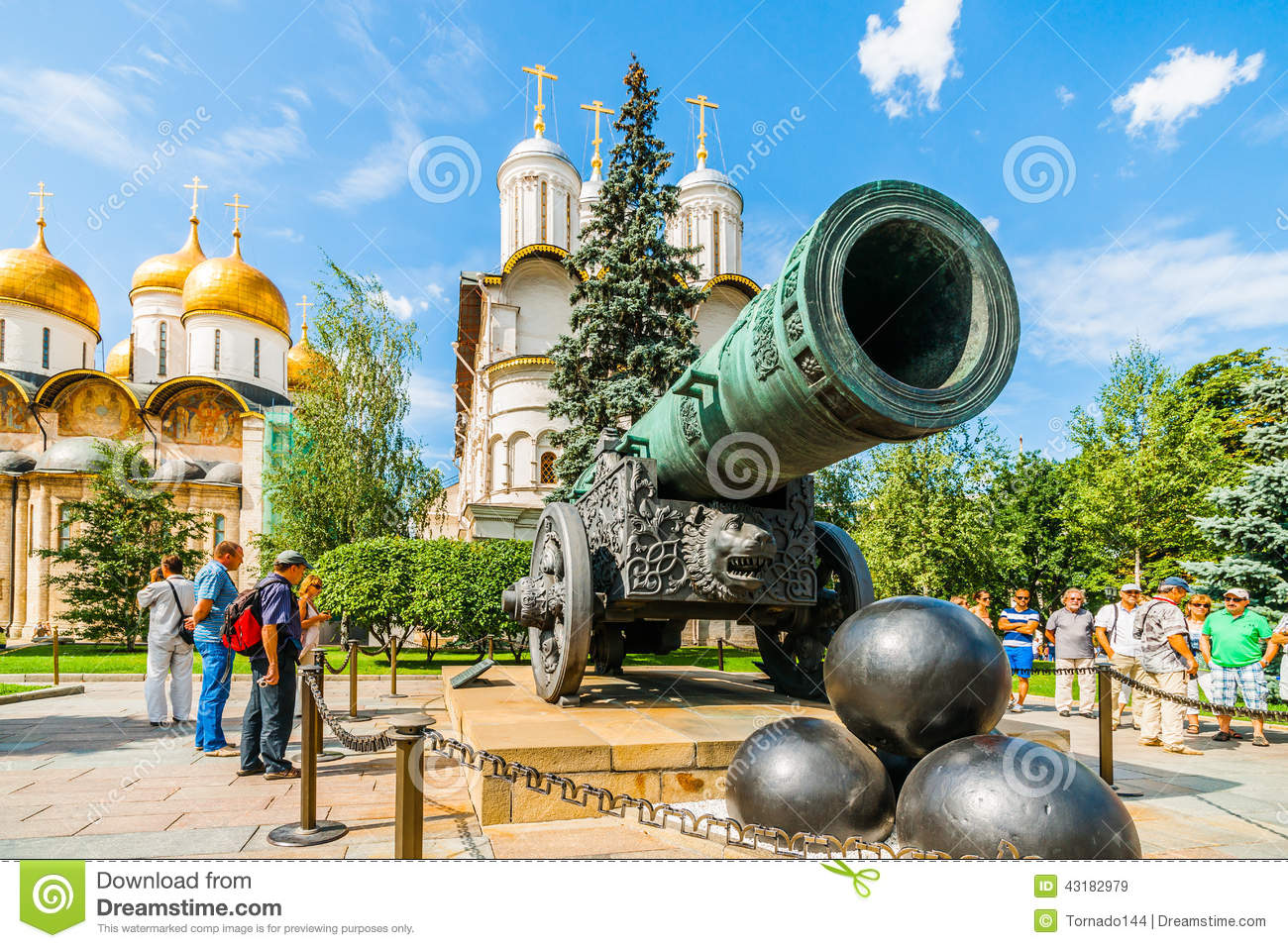 37 Tour Kremlin Tour 37 Tsar Cannon In The Kremlin Editorial Stock Image