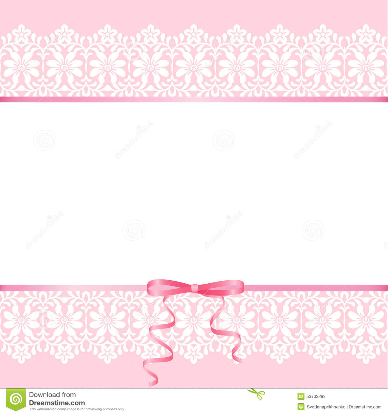 Baby Girl Wallpaper Borders Pink And Purple Lace On Pink Background Stock Vector Illustration Of