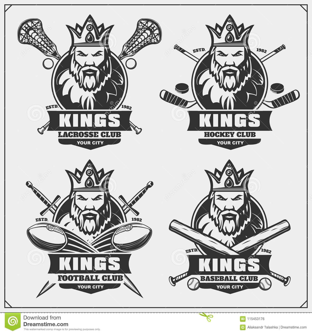 Hockey Logos Lacrosse Football Baseball And Hockey Logos And Labels Sport
