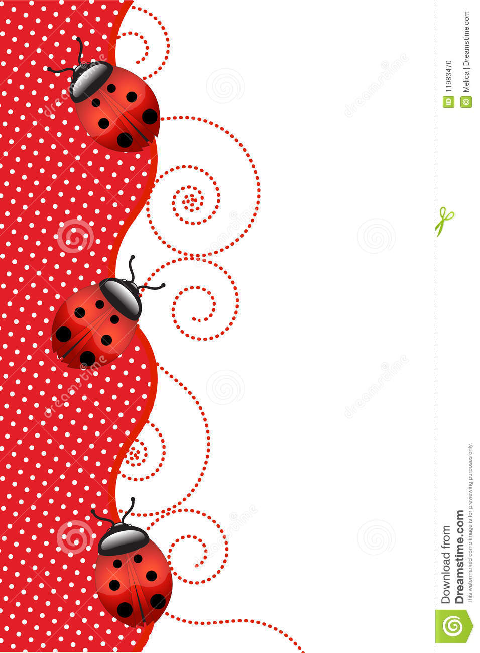 Happy Easter Wallpaper 3d Ladybugs Stock Photo Image 11983470