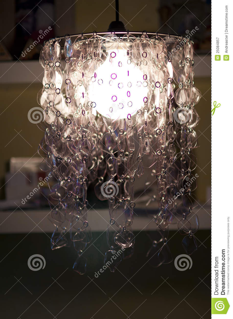 Recycled Plastic Bottle Lamp Lamp Holder From Recycled Plastic Bottles Stock Image Image Of