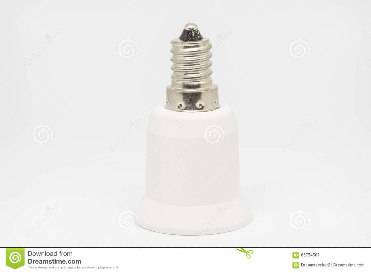 E14 E27 Adapter Lampholder Adapter E14 To E27 Stock Image Image Of Fixture