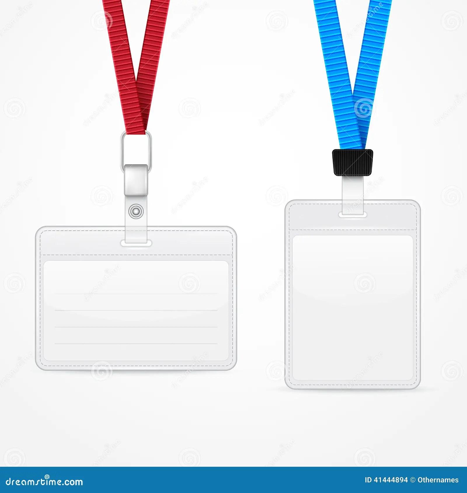 Lanyard With Tag Badge Holder Stock Illustration