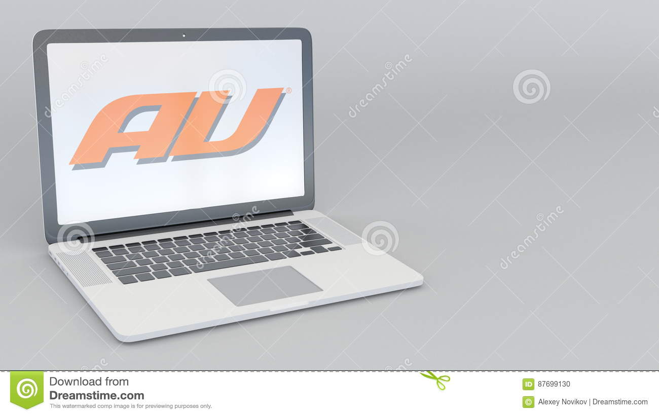Buy Laptop Adelaide Laptop With Au Mobile Phone Company Logo Computer Technology
