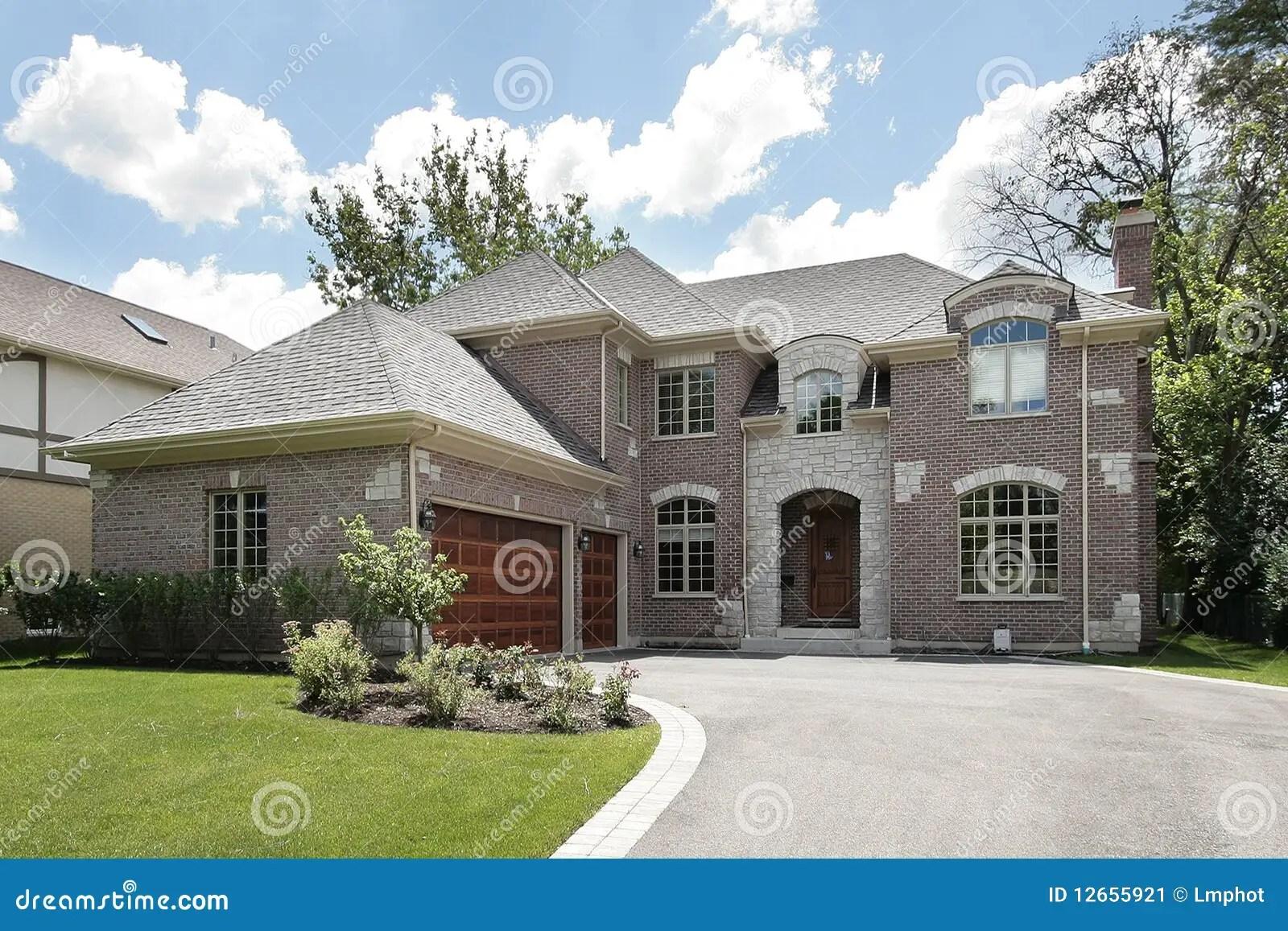 large luxury brick home stock image image lubbock large luxury homes