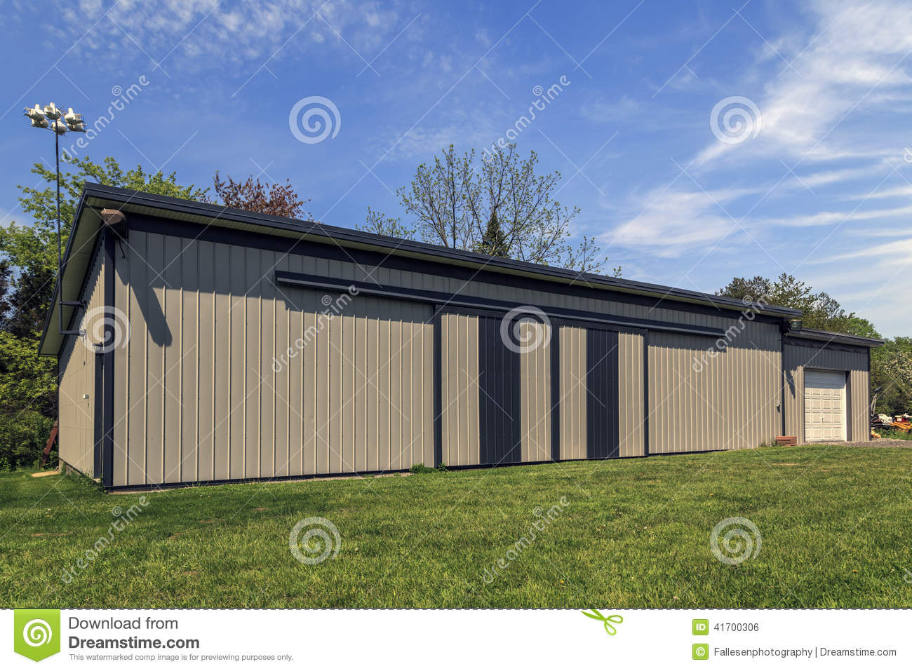 Barn Metal Large Metal Barn Stock Photo Image Of Neat Horizontal 41700306