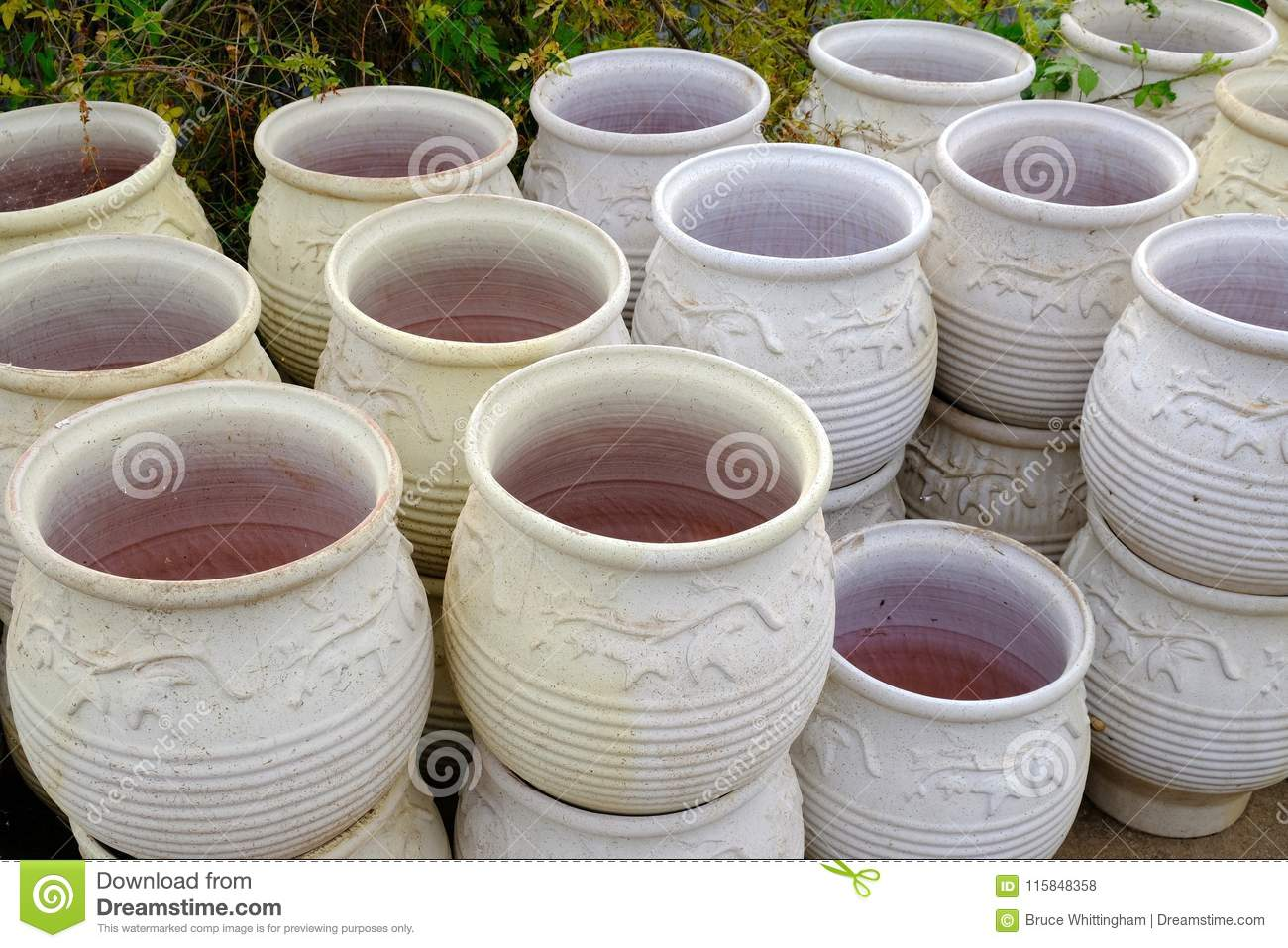 Large Garden Pots Large Terracotta Garden Pots Or Urns Stock Photo Image Of