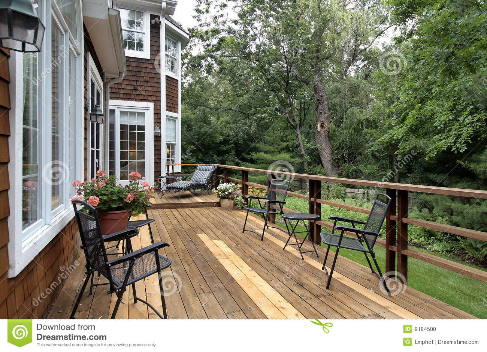 large wood deck luxury home stock photo image lubbock large luxury homes