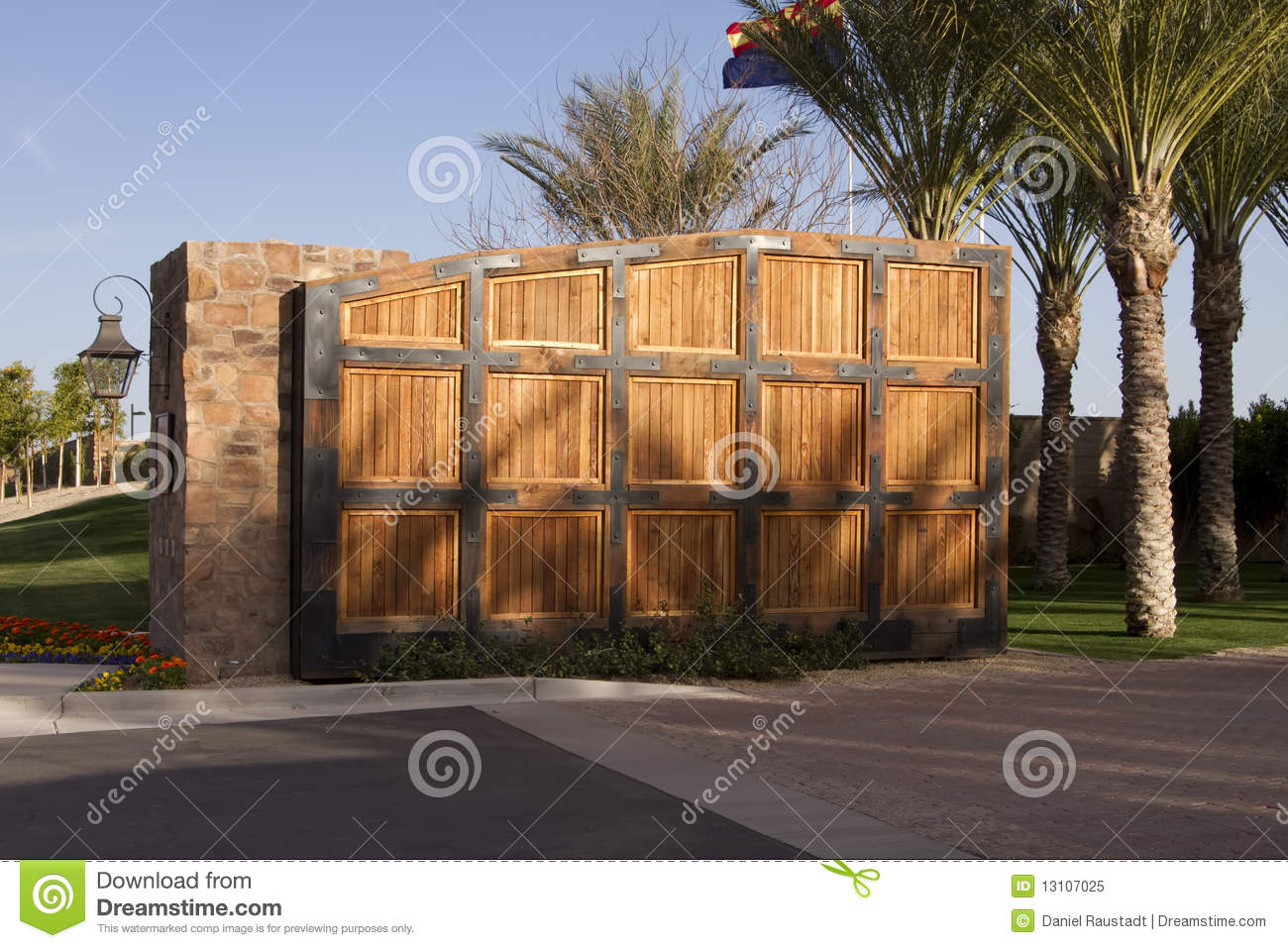 large wooden gate luxury home golf community royalty stock lubbock large luxury homes