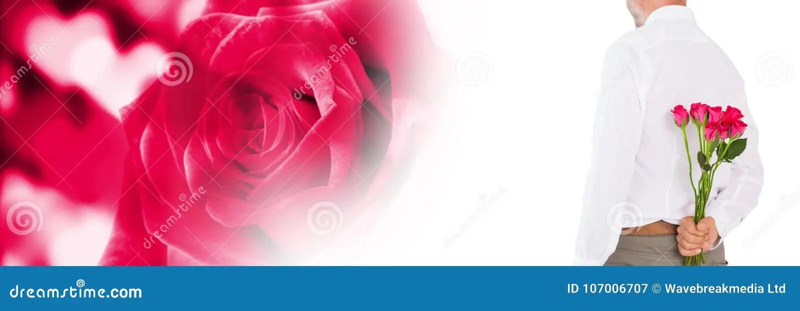 Las Tarjetas Del Día De San Valentín Sirven Sostener Rosas Con El