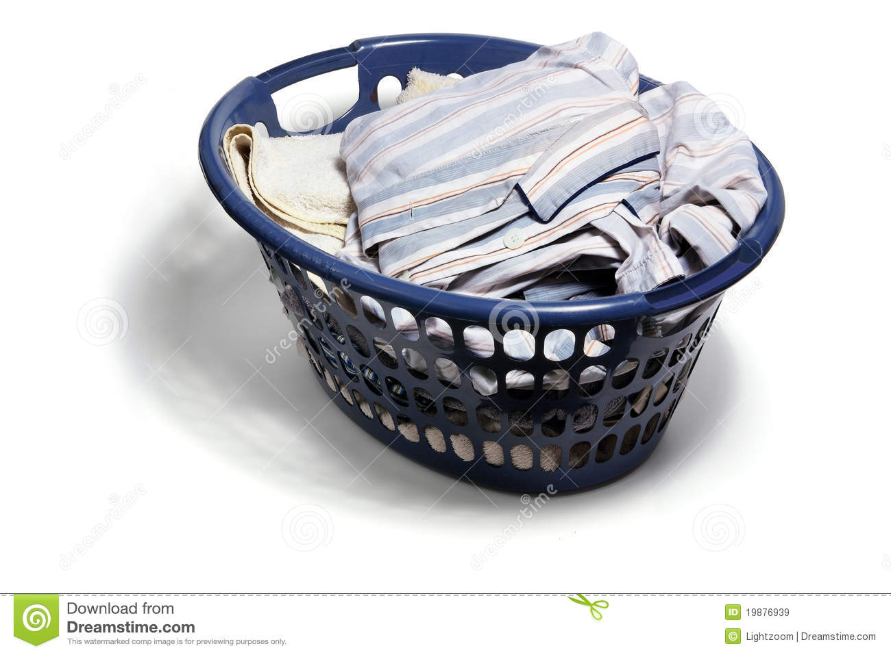 Dirty Laundry Baskets Laundry Basket With Dirty Clothes Stock Image Image