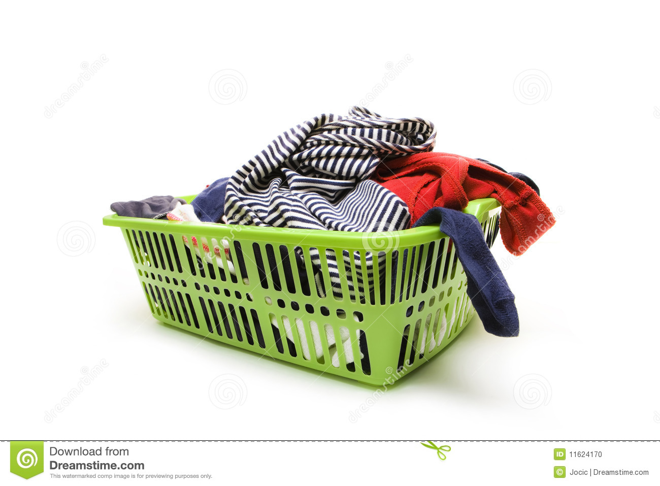 Dirty Laundry Baskets Laundry Basket And Dirty Clothing Stock Photo Image