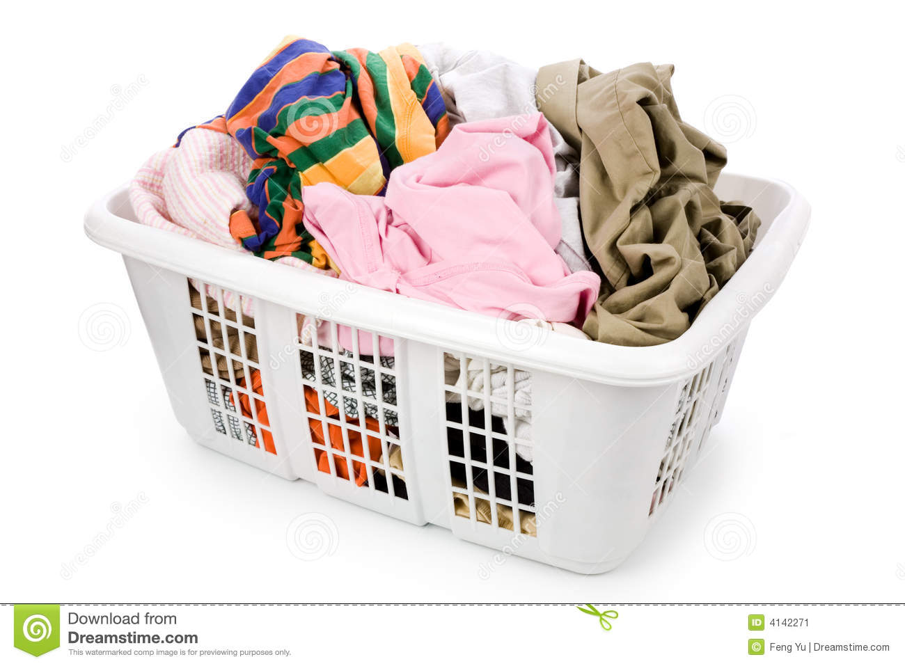 Dirty Laundry Baskets Laundry Basket And Dirty Clothing Stock Image Image 4142271