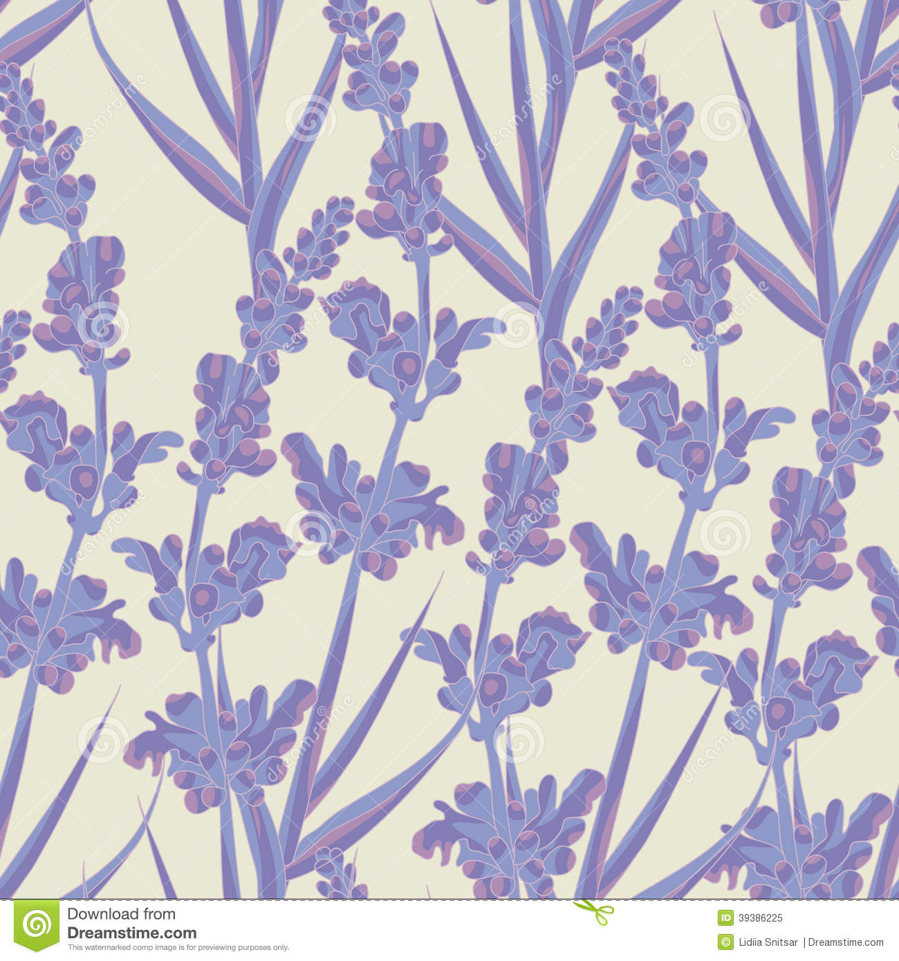 3d Wallpaper Lavender Lavender Seamless Pattern Stock Vector Image 39386225