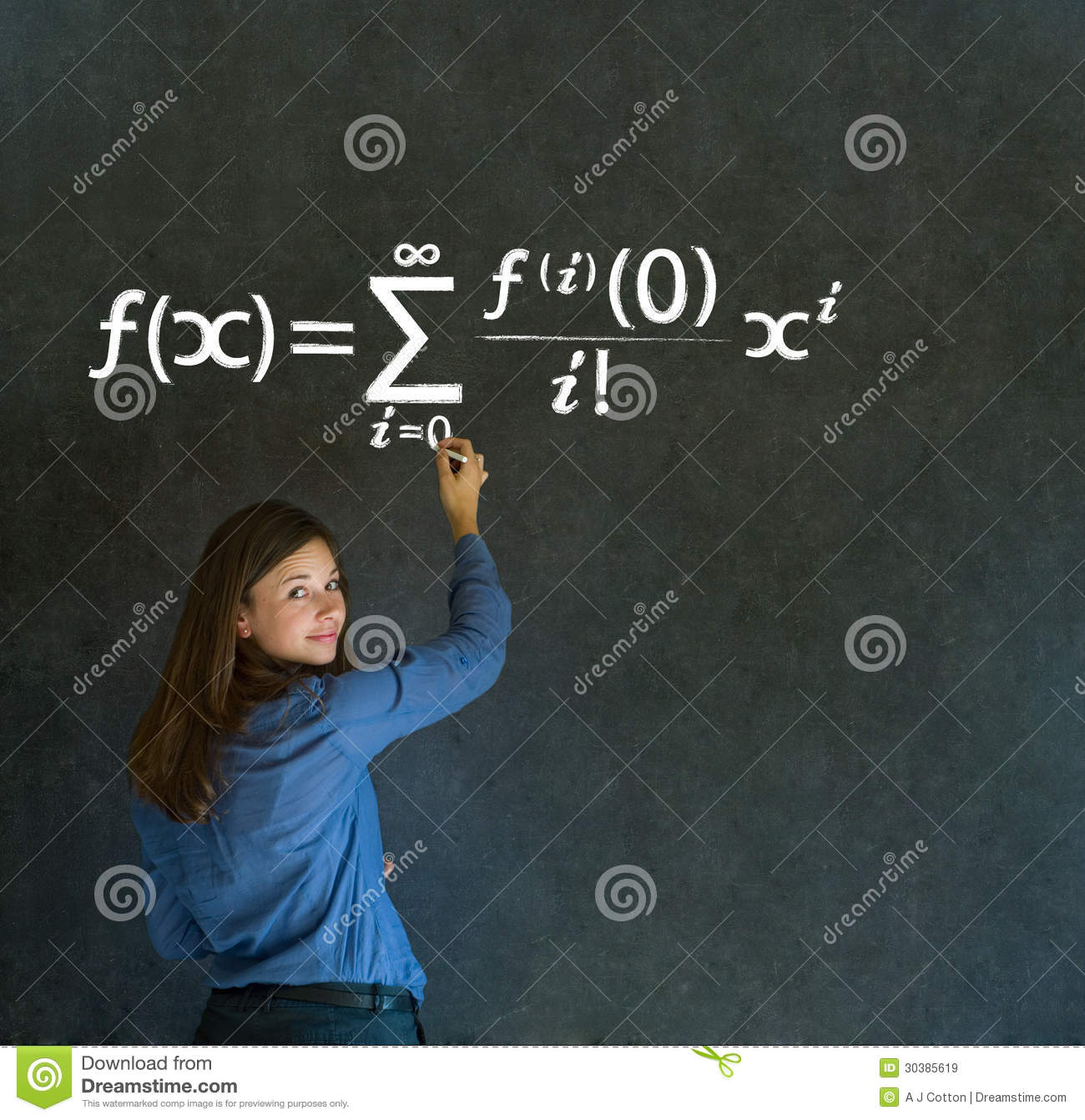 How To Be More Confident In Bed Learn Math Or Maths Teacher With Chalk Background Royalty