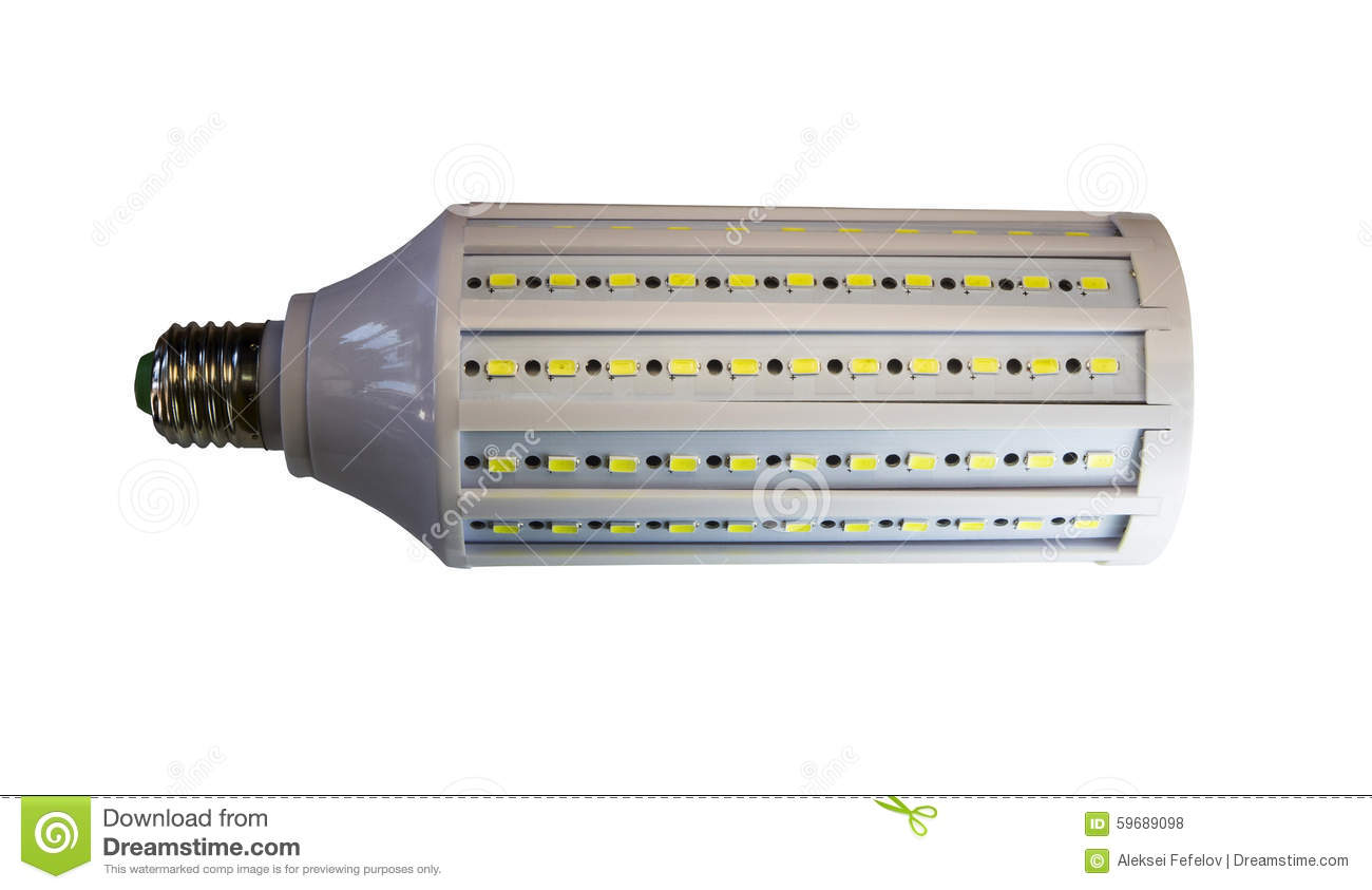 Led Verlichting 50 Lampjes Led Lamp Isolated On A White Background With Clipping Path Stock