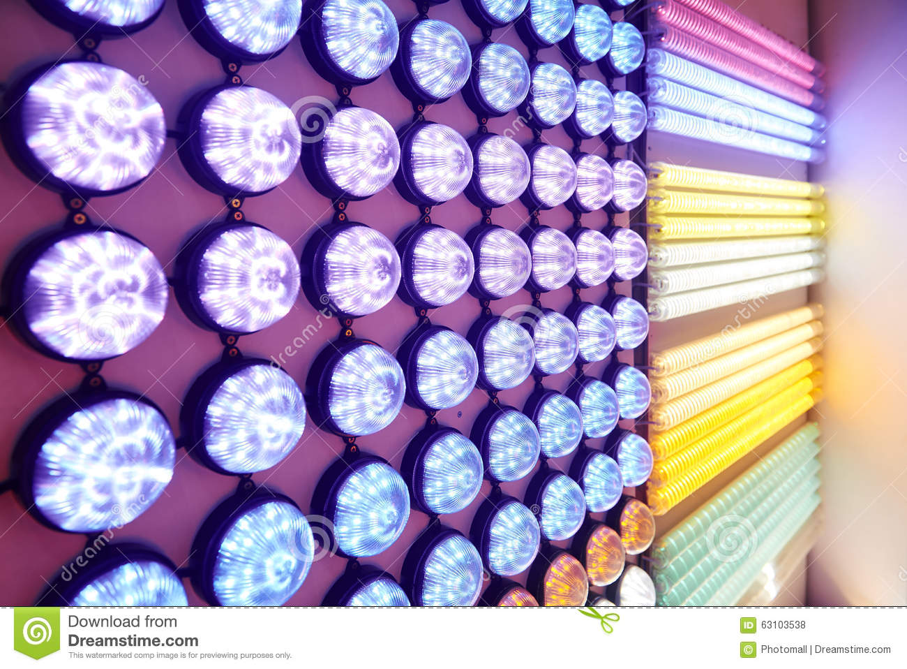 Led Wall China Led Lighting Bulbs Stock Photo Image Of Bulbs Exhibit