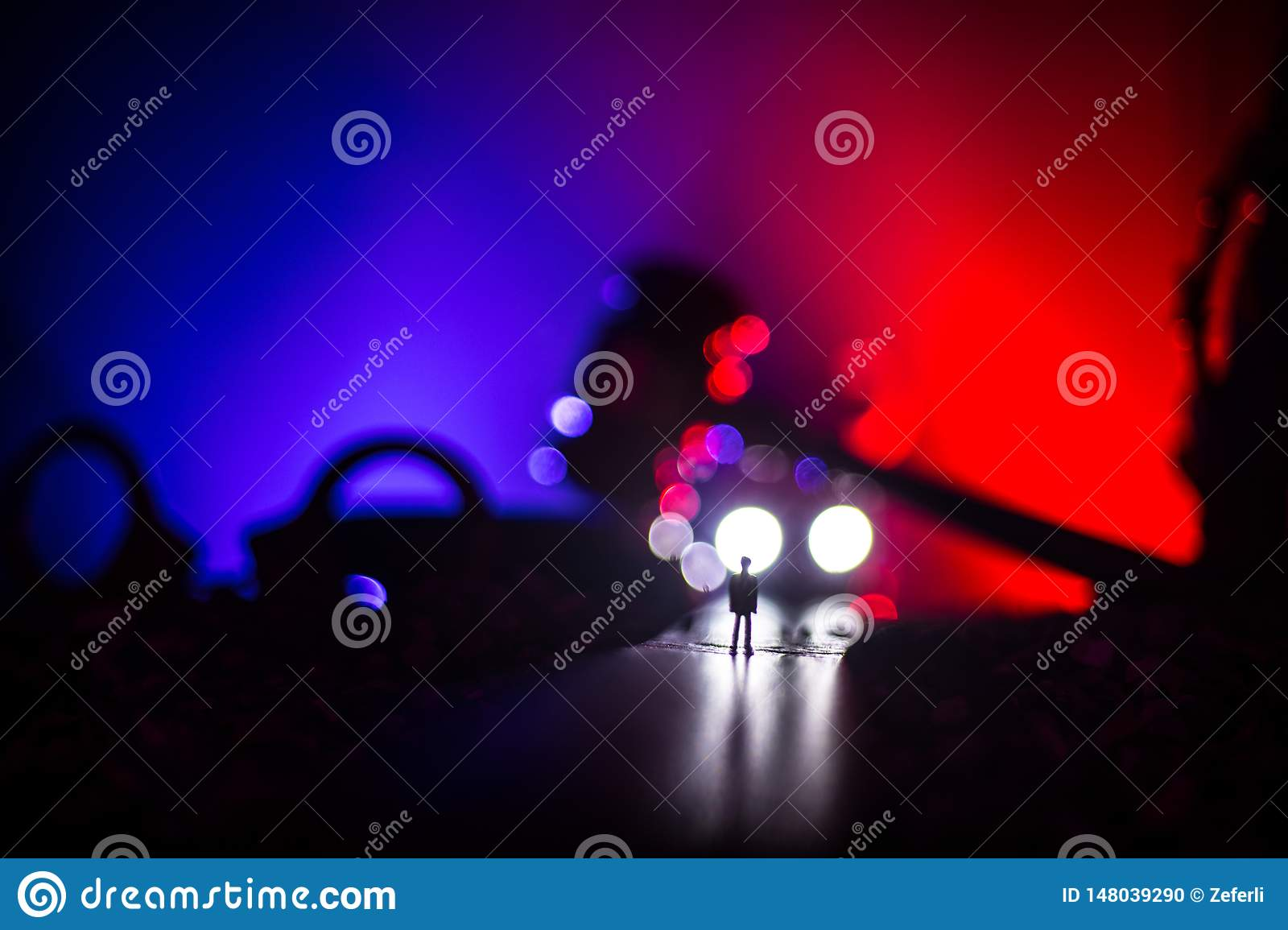 Legal Law Concept Silhouette Of Handcuffs With The Statue Of Justice On Backside With The Flashing Red And Blue Police Lights At Stock Photo Image Of Lady Handcuffs 148039290