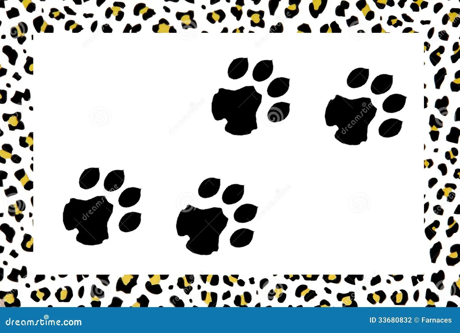 Black Animal Print Wallpaper Leopard Footprints Stock Illustration Illustration Of