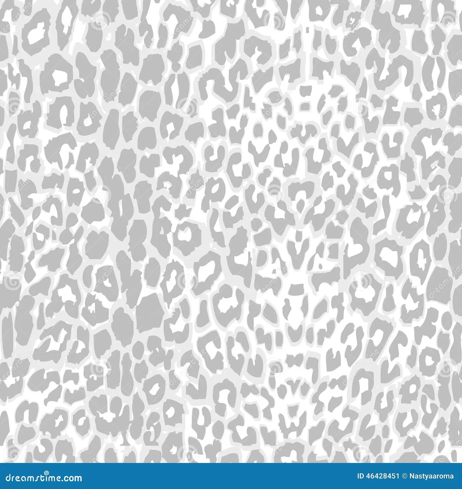 Neon Animal Print Wallpaper Leopard Print Pattern Gray Scale Vector Stock Vector