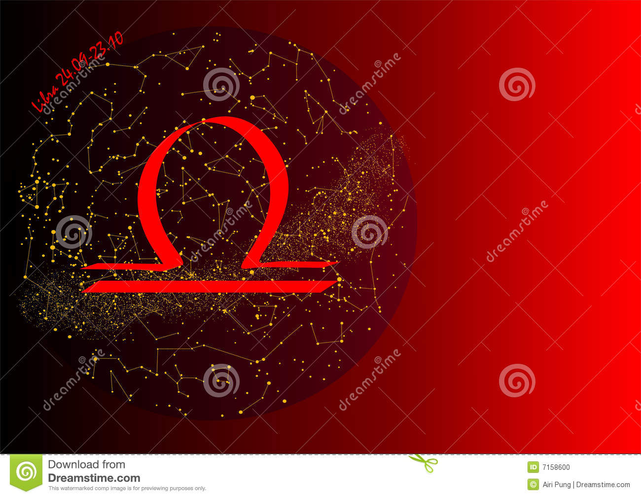 Red Libra Libra Stock Photo Image 7158600