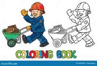 Libro Da Colorare Del Lavoratore Divertente Con Il