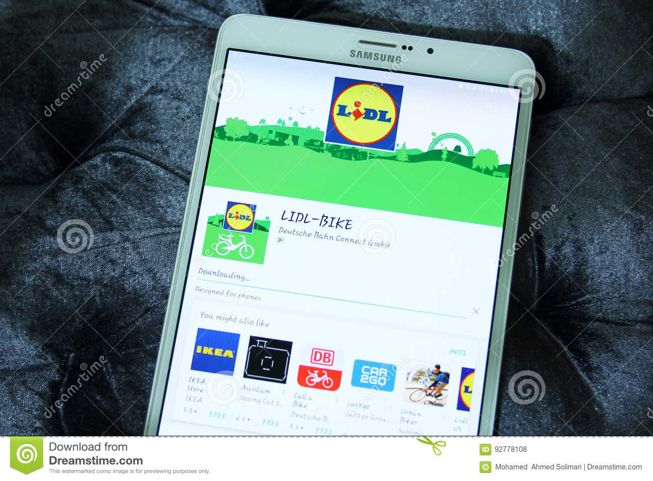 Bahn App Lidl Bike Mobile App Editorial Stock Photo Image Of Cities 92778108